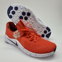 Nike Free TR 8 Clemson Tigers Mens Sz 10.5 Training Shoes Orange Purple NEW