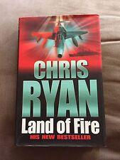 "2002 CHRIS RYAN 1ST EDITION ""LAND OF FIRE"" MILITARY FICTION HARDBACK BOOK"