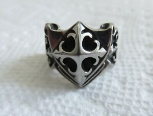 KNIGHTS TEMPLAR TITANIUM OR STAINLESS STEEL RING SIZE 8.5