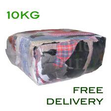 10Kg Bag of Rags Mixed material Garage Workshop Industrial value Wipes