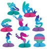 Mermaid Centrepieces 8 Pack Assorted 9-12cm Birthday Party Table Decoration