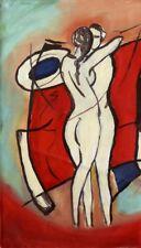 "Expressionist Öl Leinwand ""Akte"" 40 x 22 cm"