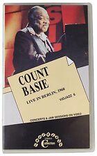 COUNT BASIE Live In Berlin 1968 VHS VIDEO Clamshell 1990 Green Line 60s Jazz OOP
