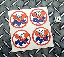 "Bozo Clown Stickers No Bozo Decals X 4 Vintage Style DECALS 2"""