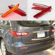 RED LED Reflector Rear Bumper Light Hybrid Fits 13 14 15 16 INFINITI QX60