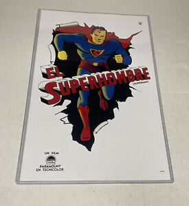 "Superman El Superhombre (Paramount, 1941) Argentinean Poster 11"" X 17"""