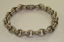 Mens Sterling Silver Oval Link Bracelet by John Hardy, 73 Grams