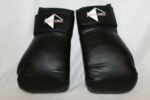 Century 12 oz large Size Black Leather Breathable Boxing Sparring Gloves EUC ufc