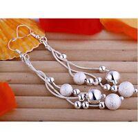 ASAMO Damen Ohrhänger Ohrringe mit Perlen 925 Sterling Silber plattiert O1006