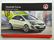 Vauxhall CORSA D Audio CD 30 MP3 TOUCH AND CONNECT OPERATING MANUAL INSTRUCTIONS