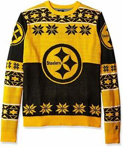 Forever Collectibles NFL Unisex Pittsburgh Steelers Big Logo Ugly Sweater