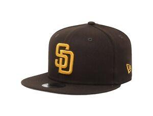 New Era 9Fifty San Diego Padres Kids Youth Hat Cap MLB Snapback Dark Brown Gold