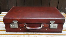 antique suitcase - Antiker Leder Reise Koffer Oldtimer Lederkoffer Reisekoffer