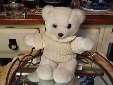 "Vintage  PRESTIGE Toy Corp WHITE TEDDY BEAR Plush Stuffed Animal 13""T 1986"
