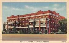 Brinkley Arkansas Hotel Rusher Street View Antique Postcard K47221