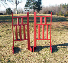 Horse Jumps 5 Column Wooden Wing Standards 5ft/Pair - Color Choice #225