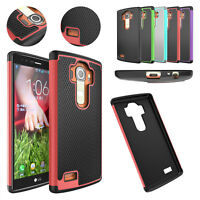 Layer Hybrid Dual Rubber Case Cover Shell for LG G4 H810 H811 LS991 US991 VS986