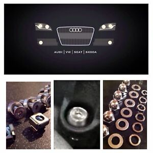 Fits Audi S3 Countersunk Engine Bay Cover Bolts Fasteners - 35 Piece SS Kit