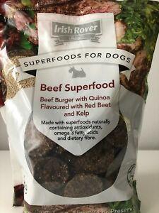 Irish Rover Superfoods Dogs Food Meat Treats Beef Burger Quinoa Beet Kelp 1kg