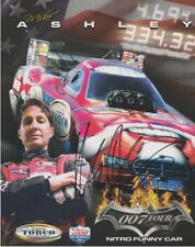 2007 Mike Ashley signed Torco Dodge Charger Funny Car NHRA postcard