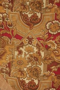 Curtain Small Antique French drape Gothic Art Nouveau pattern fabric muted tones