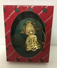 Vintage Reed & Barton Heavenly Puffed Angel Christmas Ornament