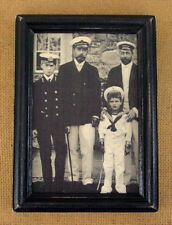 Tsar Nicholas II Russia, King George V, Tsarevich Alexey Antique Portrait Framed
