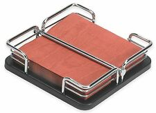 Stainless Steel Napkin Holder Metal Kitchen Modern Table Store Napkins Stand New