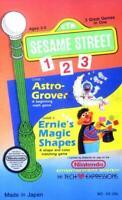 Retro Nintendo NES Game Sesame Street 123 Astro Grover and Ernie's Magic Shapes,