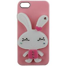 For Apple iPhone 5 5S SE HARD Case Snap On Phone Cover Pink Rabbit with MIRROR