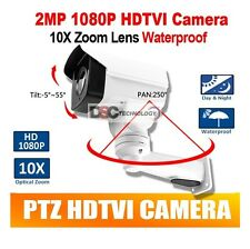 HD 1080P TVI PTZ Bullet Camera Outdoor 10X Optical Zoom 5.1-51mm Lens BNC IR80M