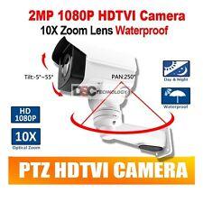 10X Optical Zoom Motorized Lens Rotary Bullet PTZ TVI Camera 2MP Nightvision 80M