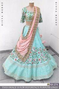 Designer Bollywood Indian Wedding Pakistani Lengha Lehenga Choli Set Lenga Saree