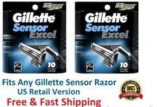 20  Sensor Excel Razor blades Refill Cartridges 5 10 Fits Sensor3 Shave