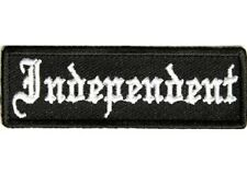 INDEPENDENT EMBROIDERED IRON ON BIKER PATCH