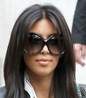 Oversized Big Huge Round Oval Frame Fashion Designer Ali Women XXL Sunglasses