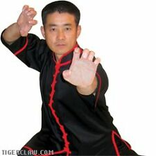 Black w Red Trim Kung Fu Uniform Top Sizes 000 to 7
