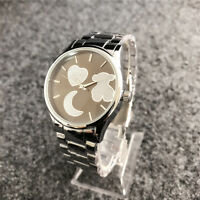 New 2018 Hot sell Women's Dress Stainless steel Wristwatch Love Teddy Bear Watch