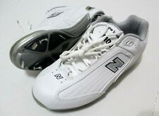 NEW Mens New Balance Baseball Cleats White Gray Shoes Size 8.5 NWOB