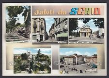 VICENZA SCHIO 29 SALUTI da... VEDUTINE Cartolina FOTOGRAFICA viaggiata 1961
