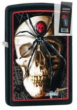 Zippo 28627 mazzi spider and skullblack matte Lighter + FLINT PACK