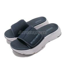 Skechers Max Cushioning Sandal Navy Grey Men Platform Slides Slippers 229008-NVY