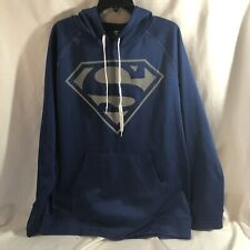 Superman Blue XL Men's Hooded Sweater