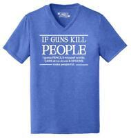 Mens If Guns Kill People Pencils Misspell Words.. Funny Gun Rights Political