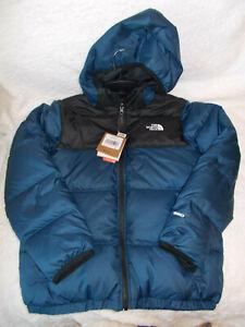 The North Face Boys' Moondoggy REVERSIBLE Jacket (Large) BLUE / BLACK $150