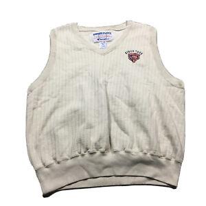 CHAMPION CHICAGO BEARS 90s VTG Sweatshirt Vest Ribbed Fleece XL Ditka Sweater