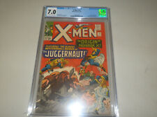 X-Men 12 CGC 7.0 FN/VF OffWhite to White Pages-Professor X Origin 1st Juggernaut