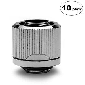 4-Pack Black Nickel EKWB EK-Quantum Torque STC-10//16 Compression Fitting for Soft Tubing 10//16mm 3//8 ID, 5//8 OD