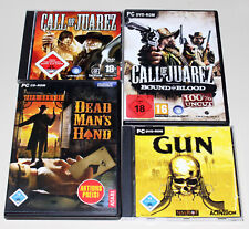 4 PC SPIELE - CALL OF JUAREZ & BOUND IN BLOOD & GUN & DEAD MAN'S HAND - SHOOTER