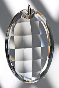 "Asfour 89mm Clear Matrix Oval Crystal Prism Suncatcher 3.5"""